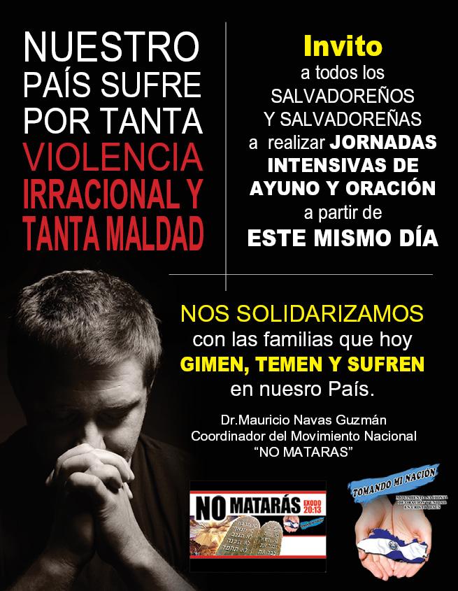 Nuestro país sufre por violencia, injusticia y temor